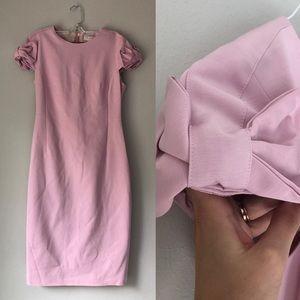 Ted Baker: Pink Sheath Dress Bow Capsleeve